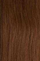 Vlasy s keratinem - 40 cm oříšková, 50 pramenů