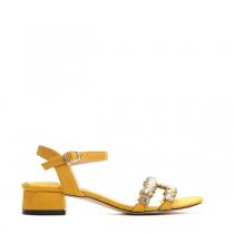 Dámské žluté sandály na podpatku Nigela 9176