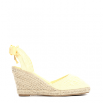 Dámské žluté sandály na klínku Deanna 2071