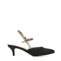 Dámské černé sandály na podpatku Vinnie 8430