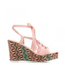 Dámské růžové sandály na klínku Arven 3269