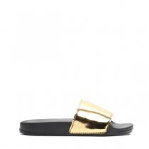 Dámské zlaté pantofle Style 10761