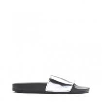 Dámské stříbrné pantofle Style 10761