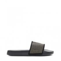 Dámské černé pantofle Fann 10761M
