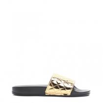 Dámské zlaté pantofle Keala 10761C