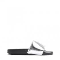 Dámské stříbrné pantofle Davis 10761H