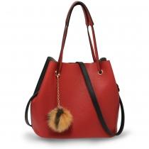Dámská černočervená kabelka Estee 190A