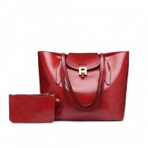 SET: Dámská červená kabelka Lady 1857