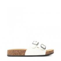 Dámské bílé pantofle Suave 6230