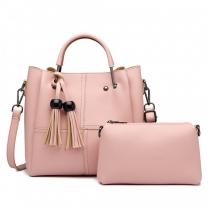 SET: Dámská růžová kabelka Candy 1844