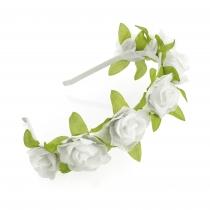 Bílá čelenka do vlasů Floral 31325