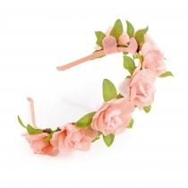 Růžová čelenka do vlasů Floral 31327