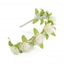 Krémová čelenka do vlasů Floral 31326