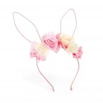 Růžová čelenka s oušky Bunny 31549