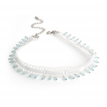 Bílý choker náhrdelník Miami 30875