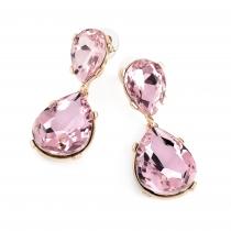 Náušnice v růžové barvě Princess 31996