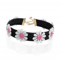 Černý choker náhrdelník Sidra 31084