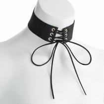Černý choker náhrdelník Ember 30973