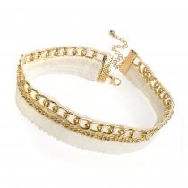 Zlatý choker náhrdelník Kelly 30927