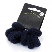 Osm námořnicky modrých gumiček do vlasů Loney 26054
