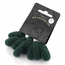 Osm zelených gumiček do vlasů Loney 26059