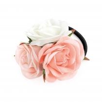 Růžová gumička do vlasů Gabriell 31864