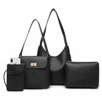 SET: Dámská černá kabelka Marion 6835
