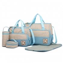 SET: Mateřská modrá taška 5 v 1 Anabell 9026