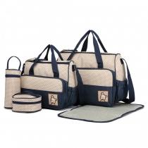 SET: Mateřská námořnicky modrá taška 5 v 1 Anabell 9026
