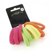 Dámské gumičky do vlasů 26867 neonové - 10 ks