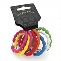 Dámské gumičky do vlasů 28613 barevné - 8 ks