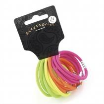 Dámské gumičky do vlasů 28058 barevné - 14 ks