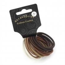 Dámské gumičky do vlasů 28063 hnědé - 12 ks