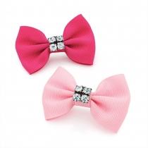 Dvě sponky do vlasů Bow 28835 růžové