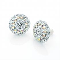 Náušnice ve stříbrné barvě Crystal 28849