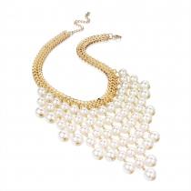 Náhrdelník ve zlaté barvě Pearls 28874