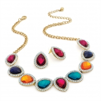 SET: Barevný náhrdelník a náušnice Aurora 28990