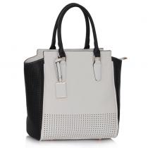 Dámská kabelka Stany 0249A černobílá