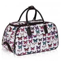 Dámská cestovní taška Butterfly 308A bílá