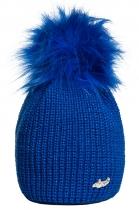 Modrá čepice Avanti s modrou bambulí