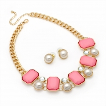 SET: Růžový náhrdelník a náušnice Amanda 29194