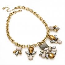 Dámský šedý náhrdelník Linda 29201
