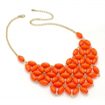 Oranžový náhrdelník Bright 29271