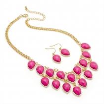 SET: Růžový náhrdelník a náušnice Zina 29267
