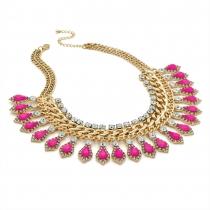 Růžový náhrdelník Stephanie 29286