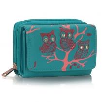 Dámská peněženka Owl 1045 tyrkysová