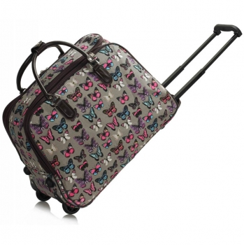 Dámská cestovní taška Butterfly 309B šedá - Svět shopaholiků