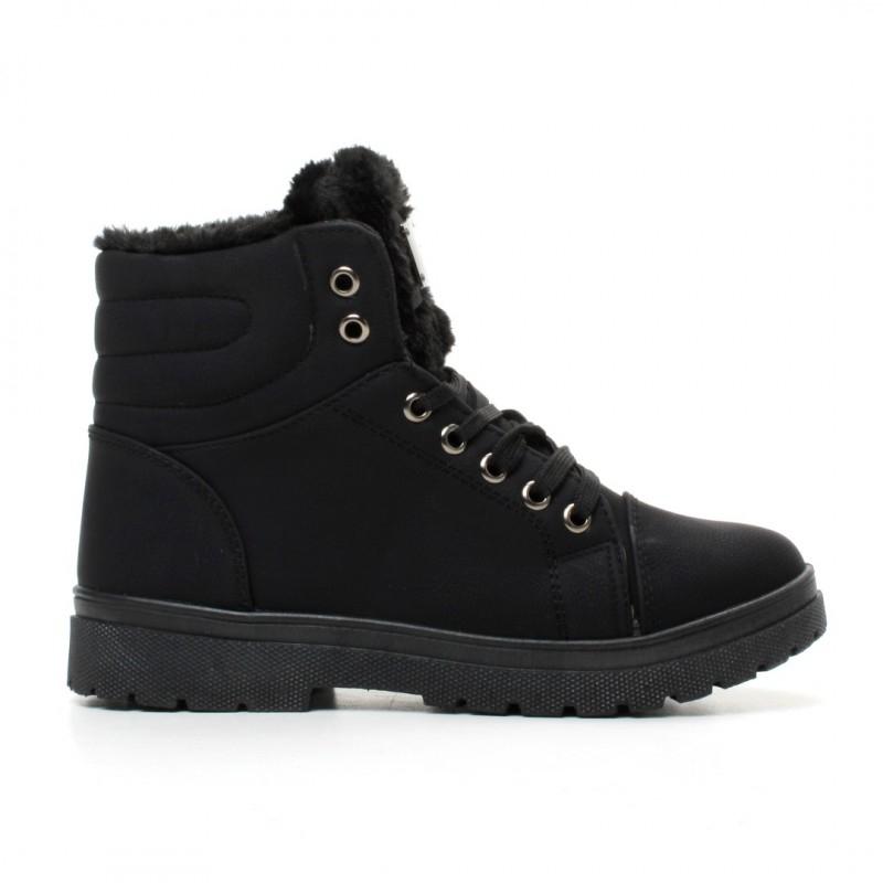 Dámské černé kotníkové boty Merinda 002 - Svět shopaholiků.cz 2d85c2ac6d