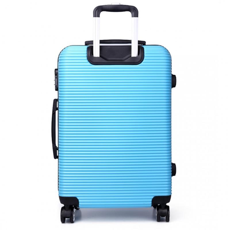 Dámský malý světle modrý kufr na kolečkách Travel 6676 - Svět shopaholiků.cz