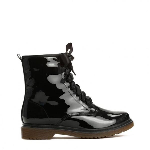 Dámské černé lakované kotníkové boty Glance 6149 - Svět shopaholiků.cz 1f5c7c6486